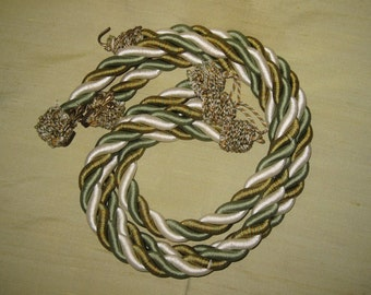 cords for curtains Silk Cords Bronze hooks