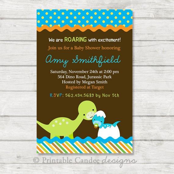 Amazing image regarding free printable dinosaur baby shower invitations