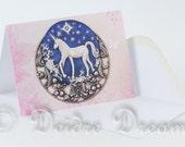 Unicorn Greeting Card, Valentine Card, Greetings Card, Birthday Card, Blank Note Card, Wedding Card, Christmas Card, Xmas Card Unicorn Decor