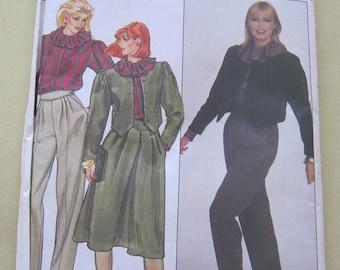 Butterick 4526 Pattern 1980's Jacket, Blouse Skirt and Pants 12 Vintage