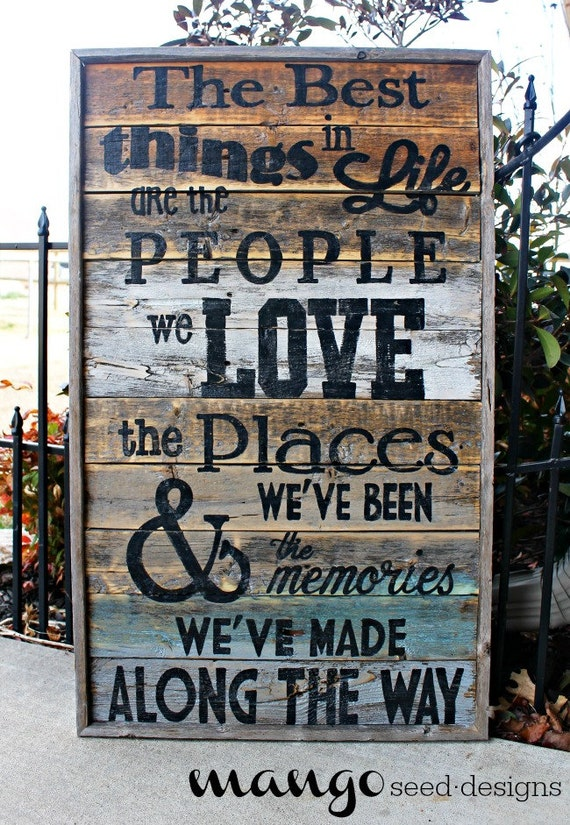 Best Things In Life Rustic Wood Sign / 17 by ...