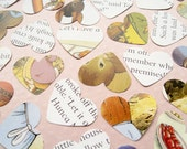 250 Beatrix Potter Heart Book Confetti - Baby Shower, Birthday Party, Christening - Peter Rabbit Table Decor Hearts