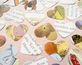 500 Beatrix Potter Peter Rabbit Heart Book Confetti - Baby Shower, Birthday Party, Christening - Novel Table Decor
