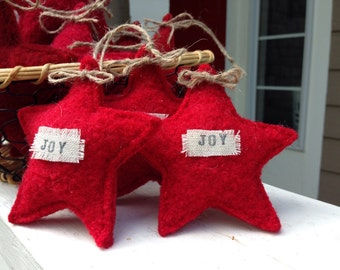 "Recycled Wool ""Joy"" star"
