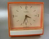 Retro 1970s Wind-Up Alarm Clock, Funky Vintage Alarm Clock, brand Ruhla from GDR (former East Germany)