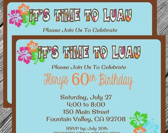 Luau-Hawaiian Party Printable Invitation