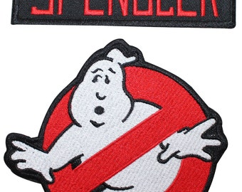Ghostbusters Spengler Name Tag & No Ghost Uniform Applique Patch