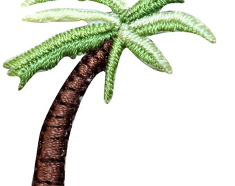 ID #1727 Lot of 3 Palm Trees Tropical Island Beach Plant Iron On Badge Applique Patc