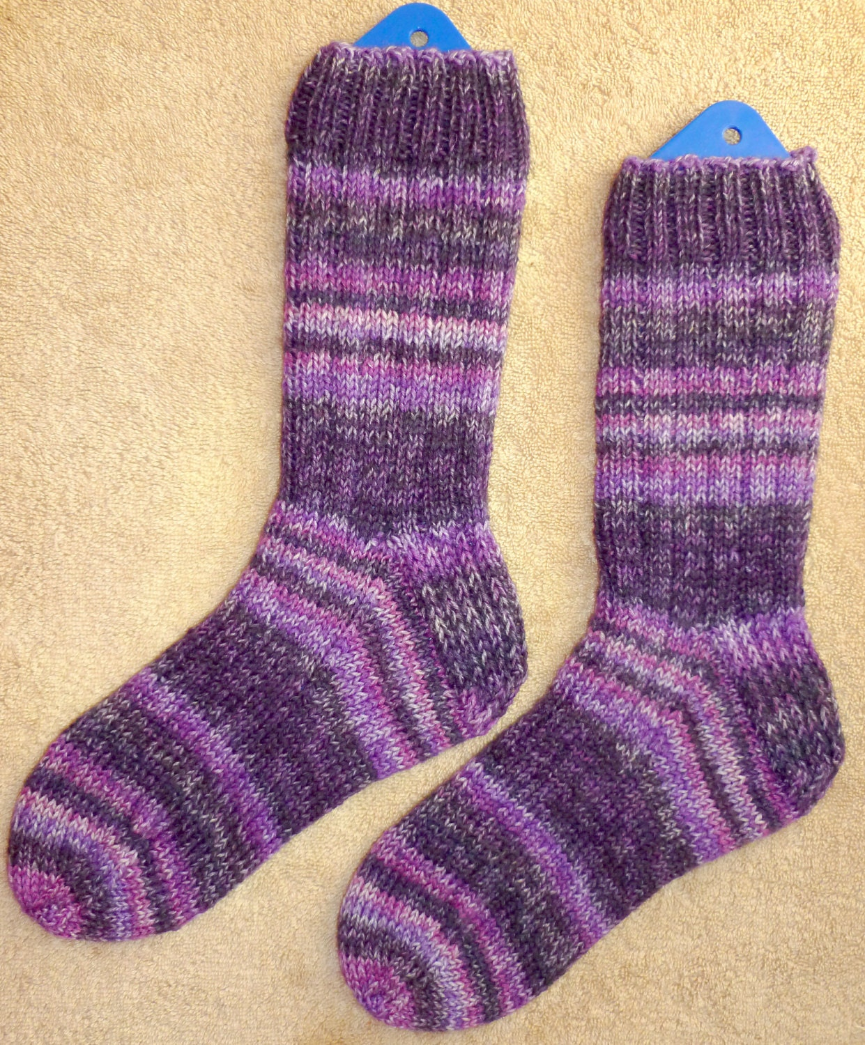 Hand Knit Wool Heavy Boot Hiking Skiing Snowboarding Socks