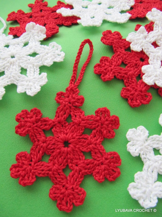 CROCHET SNOWFLAKE PATTERN, Christmas Tree Ornament, Diy Craft Christmas Decorations Gifts, Instant Download Lyubava Crochet Pattern Pdf No.6