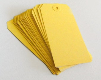 Tags Yellow Craft Shipping Large Size Set of 25