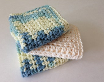 Crochet Cotton Dishcloth Washcloth Kitchen Towel Bathroom Accesories Dishtowel