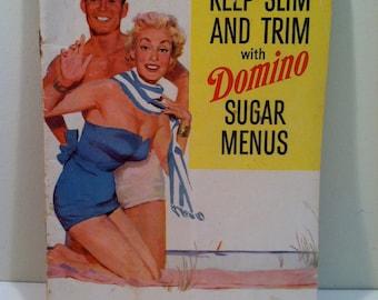 Vintage Domino Sugar Weight loss Menu Booklet