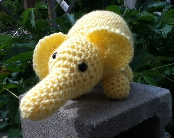 MADE TO ORDER - Elephant, Crochet toy stuffed toy- toddler, baby, child, girls, boys, safety eyes, yarn, play, fun, birthday