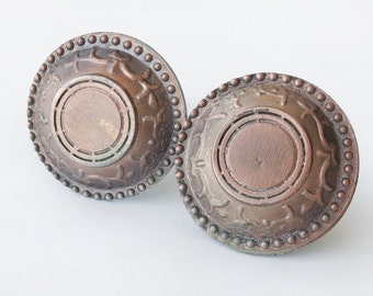 Vintage Metal Door Knobs, Round Knobs