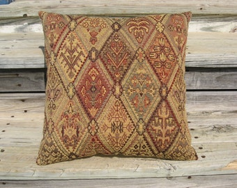 Tapestry Pillow, Old-World Style, Throw Pillow, Southwest Style, Tapestry Cushion, Southwest Pillow, Accent Pillow, Renaissance Pillow