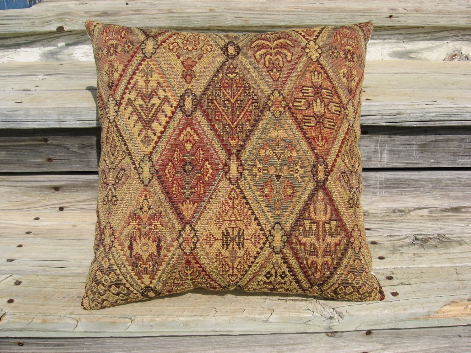 Tapestry Pillow Old World Style Throw Pillow Southwest