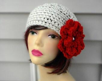 Womens Crochet Hats, Womens Winter Hat Crochet Hair Accessories Winter Accessories Womens Beanie Hat Red