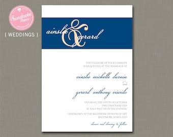 Ainslie Wedding Invitation / Formal Wedding Invitation