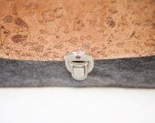 Doggies Printed Cork And Fabric Envelope Clutch