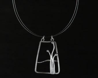 Silver Nature Glyph Pendant