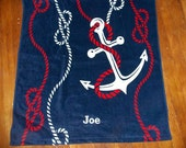 Reserved for Shannon S. - Set of 8 Anchor Beach Towels