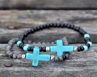 Layering Stack Beaded Bracelets by BeadRustic | FREE SHIPPING