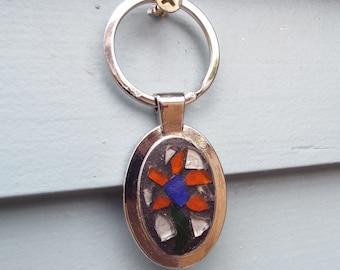Flower Mosaic Keychain, Sweet 16 Gift