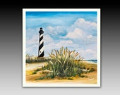 Cape Hatteras Outer Banks North Carolina Lighthouse Ceramic Tile with Hook or Coaster