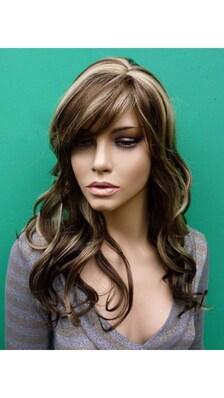 Светлые волосы с коричневыми прядями фото