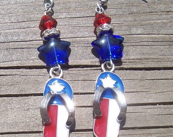 Red, White and Blue Patriotic Earrings