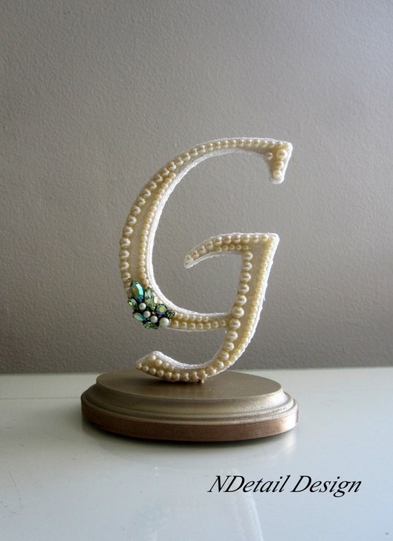 wedding cake topper letter g items similar to wedding cake topper monogram letter g in 26348