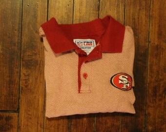 San Francisco 49ers Starter golf polo shirt nfl football - medium