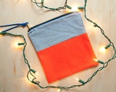 Buoy Blocked Zippered Pouch