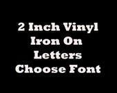 15 LETTER Name Custom T-shirt Heat Transfer Iron On Personalized Vinyl U Choose Color & Font