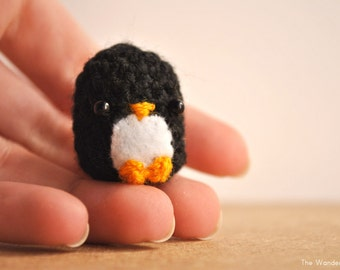 Penguin doll. Made to order. Black penguin Keychain, Kawaii charm. Cute phone dangle. Desk decor. kawaii keychain.