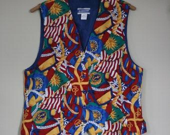 vintage pendleton women's vest size 12 100% rayon
