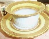 Reserved for Julianne/8 Ramekin Sets/ Dinnerware Set/Yellow Border/C.M.Hutschenreuther/  Germany/Circa 1920/ Dinner Party