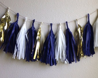 Tassle Garland- 6 feet Tissue Paper garland- ANY COLOR you choose