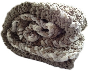 Super soft plush crochet baby blanket chunky crochet baby afghan neutral shades sand beige white cream taupe 30 in. x 36 in. READY TO SHIP