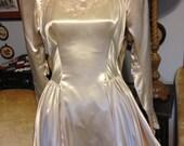 Antique beaded wedding dress
