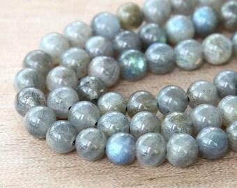 Labradorite Beads, 5-6mm Round - 15 inch strand 65 beads - eGR-LB001-6