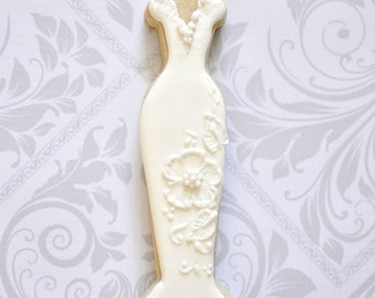 Popular items for gown cookies on etsy for Wedding dress cookie cutters