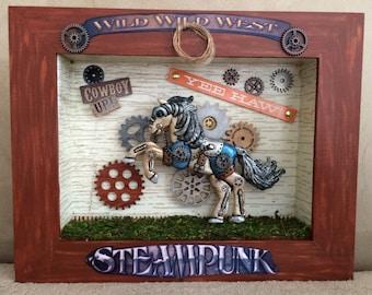 Western Steampunk Shadowbox