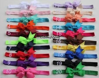 PICK 10 infant bow headband -  infant baby headband - infant bands  - infant girl - headband infant- baby bow headband - headband for baby