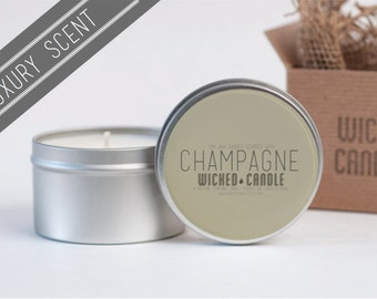 Champagne scented soy wax Wicked Candle - LUXURY SCENT