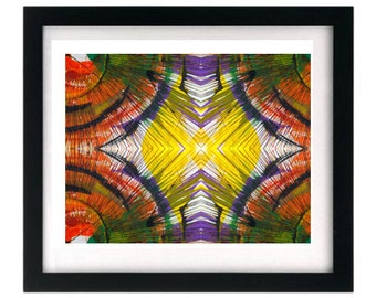 11 x 8.5 Signed Fractal Abstract Art Giclée Print - FREE shipping