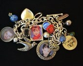 Photo Charm Bracelet,Italian Photo Charms,50th Birthday Gift, Photo Bracelet, Photo Jewelry, Photo Pendants, Photo Bubble Jewelry,Metal Tag