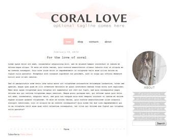 Items similar to premade blog design cassidy 39 s theme for Premade columns