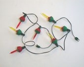 VINTAGE BUBBLE LIGHTS - Plastic Red Green Yellow - Christmas - Working - IWANTVINTAGE